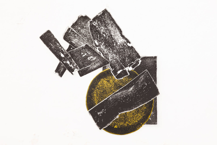 Eclipse Printsink On Somerset Paper Some With Chine Collé Handpainted And Foil 98 5 X Cm Edition Of 3 1 A Series 13