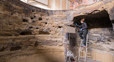 The recreation of the Risco Caído: the facsimile for the recently declared World Heritage Site has been installed