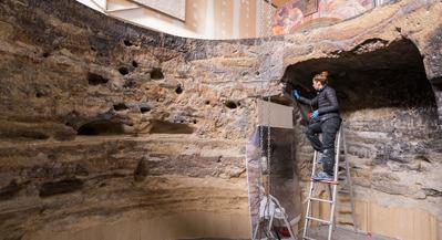 La recreación del Risco Caído: el facsímil para el recién declarado Lugar Patrimonio de la humanidad se ha instalado