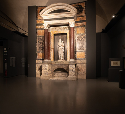 La rematerialización de la tumba de Rafael, expuesta en Roma
