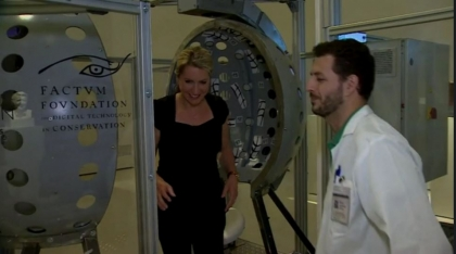 BBC WORLD NEWS reports the Veronica Scanner exhibition at the RA in London