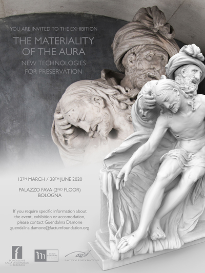 <i>The Materiality of the Aura. New Technologies for Preservation</i> (Palazzo Fava, Bologna, 12th March - 28th June 2020)