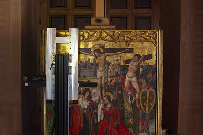 A late-15th-century altarpiece by the Maestro de Perea