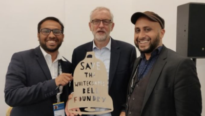 Jeremy Corbyn endorses the campaign to save the Whitechapel Bell Foundry