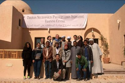Four years ago in Luxor: Stoppelaëre House was opened as TNPI's training centre
