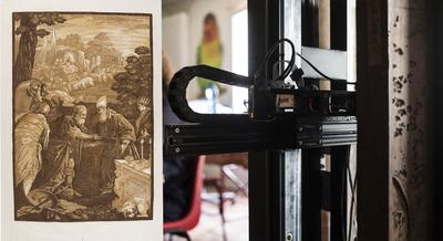 The Lucida Lab Milano recording J. B. Jackson's Chiaroscuro woodcuts