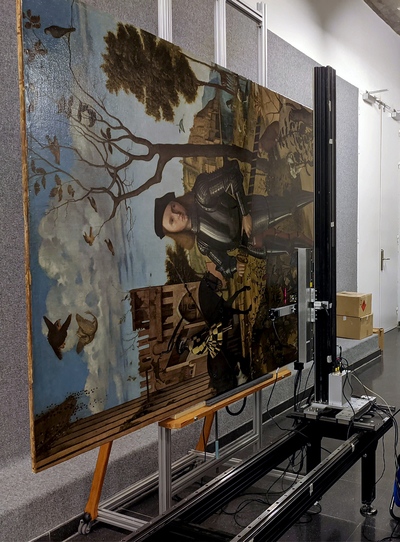 Recording the <i>Young Knight in a Landscape</i> in the Thyssen-Bornemisza National Museum