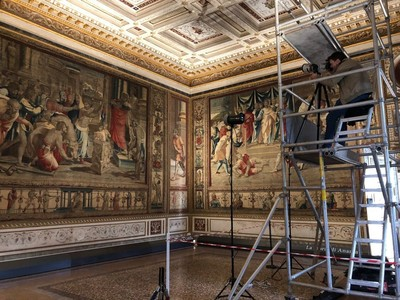 Recording the <i>Sacrifice at Lystra</i> tapestry in Mantua