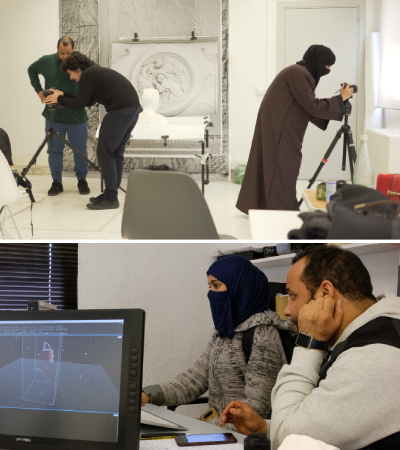 Photogrammetry training with two students from Saudi Arabia in collaboration with RCU and Art Jameel