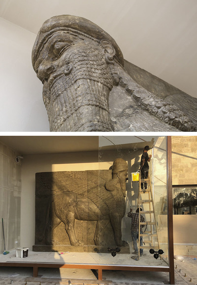 Facsimiles of two Lamassu from the north-west palace of Ashurnasirpal II in Nimrud have been donated to the University of Mosul by Factum Foundation and the British Museum