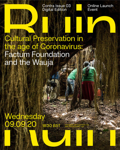 Cultural Preservation in the age of Coronavirus: an online event with Contra Journal