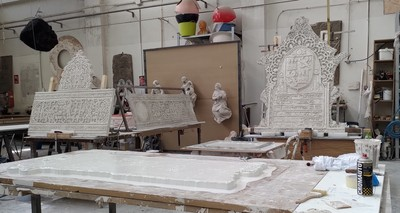 Bishop Auckland: work for the Spanish Gallery is almost complete